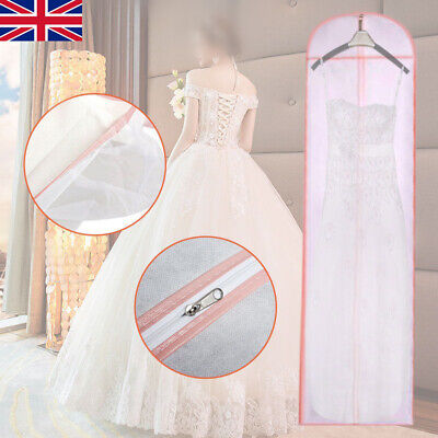 Hoesh Personalised Breathable Wedding Dress Cover Bags for Bridal Prom Gowns