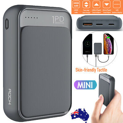 Mini Power Bank PD Fast Charge Type-C Portable 10000mAh Battery Charger Digital