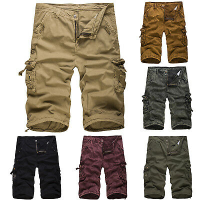 Mens Sport Combat Pants Cargo Shorts Camping Outdoor Work Army Military Trousers