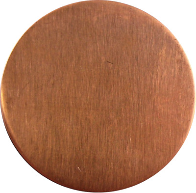 0.9mm Solid Satin Copper Metal Discs Disks 43mm 50mm 60mm 80mm jewellery blanks