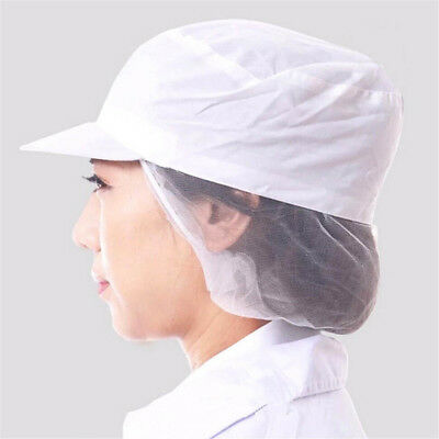 Unisex White Catering Hat Chef Bakers Food Hygiene Dust-proof Bouffant Snood Cap