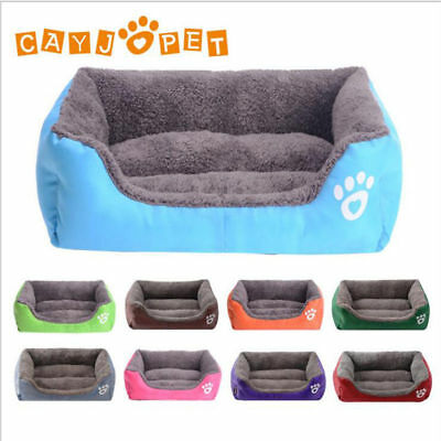 Pet Dog Cat Bed Puppy Cushion House Soft Warm Kennel Blanket Washable Home Beds