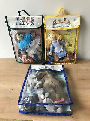 THE PUPPET COMPANY Finger Puppets Billy Goats Gruff Goldilocks Red Riding Hood