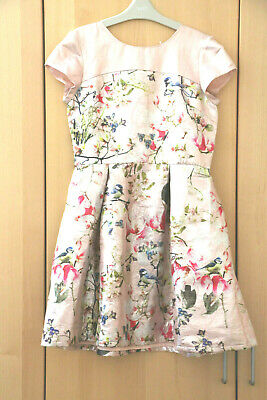 Next Girls Gorgeous Blush Pink Floral Dress Age 13 Years BNWT Tag £40