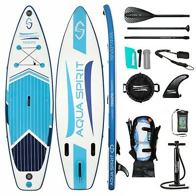 Inflatable Paddle Board SUP Stand Up Paddleboard & Accessories - Aqua Spirit
