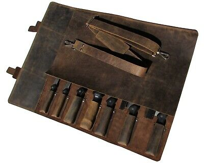 One Leaf - Leather Knife Roll Chefs Bag Knife Case - Bedouin X