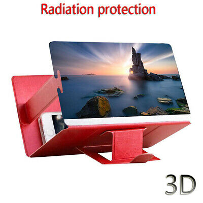 HD 3D Tool Wood Screen Magnifier Folding Stand Optical Instrument Mobile Phone
