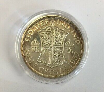 1937 George VI Half Crown Coin Silver Good Lustre