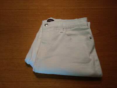 Women's Gloria Vanderbilt Size 12 L Large White Amanda Stretch Pants Inseam 30!!