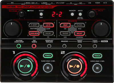 Boss RC-202 Tabletop Loop Station with Onboard FX and 2 Stereo Tracks