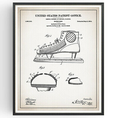 ffc65a79088b6 PATENT PRINT - Vintage Hockey Puck 1940 - Art Print NHL. Ready To Be ...