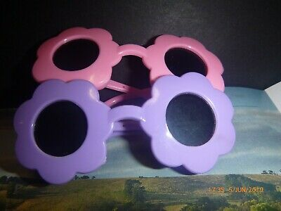 "Dolls Sunglasses Clear Lens 18"" Our Generation American Doll Pink Daisy Flowers"