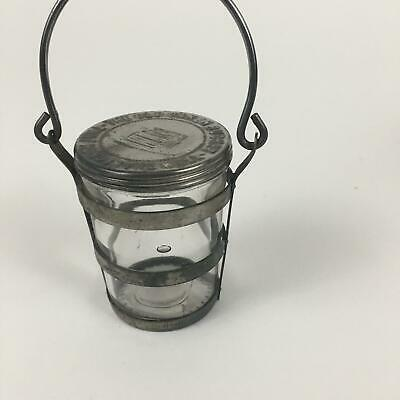 The Old Oaken Bucket Jelly Jar with Metal Holder and Lid