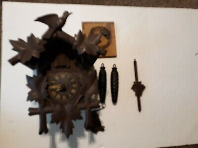 German Black Forest Hubert Herr Triberg Germany Cuckoo Clock Non Working Wall