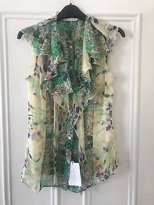 4ddc6baa4039ec JAEGER SILK TOP Short Fluted Sleeves with Matching Rope, Size UK 12 ...