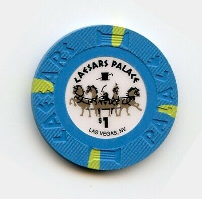 1.00 Chip from the Caesars Palace Casino in Las Vegas Nevada Small Inlay