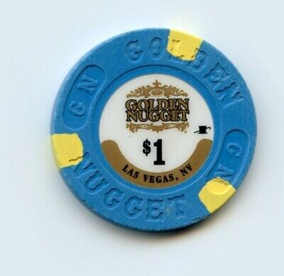 1.00 Chip from the Golden Nugget Casino in Las Vegas Nevada Small Inlay