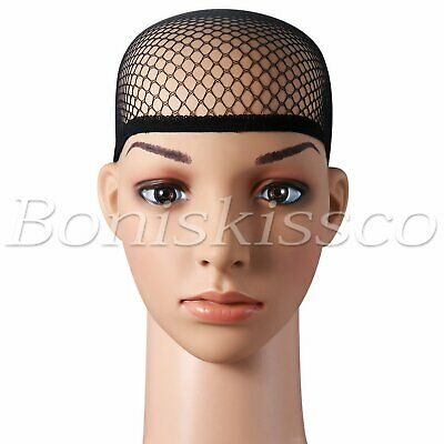 6pcs Stretchable Elastic Wig Hair Cap Net For Cosplay Wigs Hair Accessories