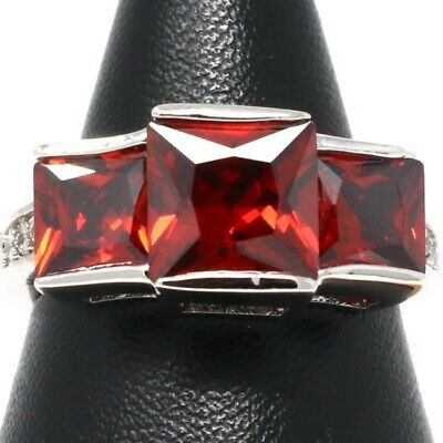 Sparkling 4 Ct Red Ruby Solitaire Ring Women Women Wedding Engagement Jewelry