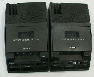 2 x Philips LFH 710 Transcription Executive Transcriber Machines -Tape Dictation
