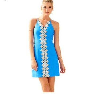 9ec46043f23ae4 NWT Lilly Pulitzer dress Pearl shift size 00 blue Buy It Now $95 Retail $198