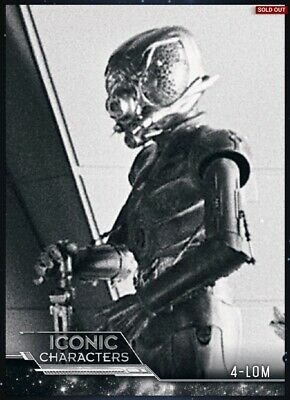 Star Wars Card Trader ~ 4-LOM ~ ICONIC CHARACTERS ~ Black & White Bounty Hunter