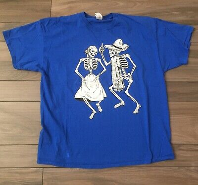 Dead And Company Grateful Dancing Skeltons Day Of The Dead T-shirt XXL