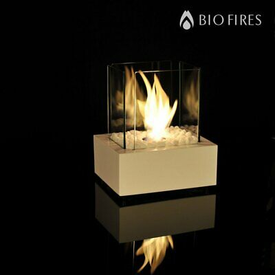 Bio-Ethanol In or Outdoor Fireplace Heater Smokeless Stainless Steel Glass Gas
