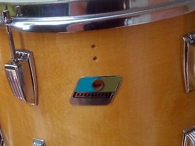 "LUDWIG TOM 14"" X10"" natural maple 6 ply vintage 78/79 vintage drum set batteria"