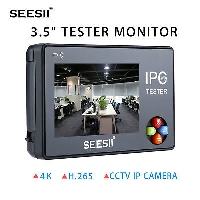 3.5inch 4K CCTV IP Camera Tester Monitor Analog Test ONVIF Touch Screen H.265