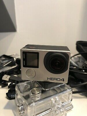 GoPro Hero4 Black Edition 64 GB Camcorder - Silver With Lots Of Extras