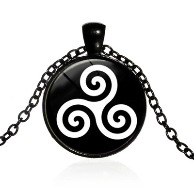 Triskelion Triskeles Celtic Neolithic Symbol Necklace Pendent Jewellery Gift Bag