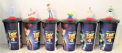 Toy Story 4 Movie Theater Exclusive Cup Topper Set with 44 oz Cups
