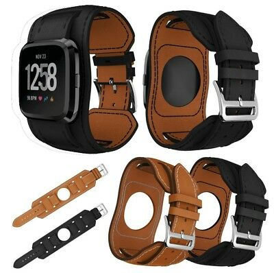 Bands Leather Style Replacement Strap Wristbands For Fitbit Versa Smartwatch CA
