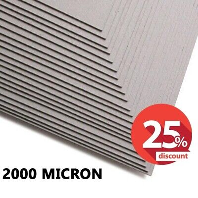 2000 Micron Greyboard, A3, A4, 2mm Card, Thick Mount Backing Board, SALE OFFER