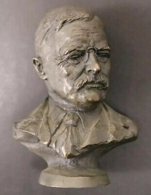 President Theodore Roosevelt Sold Bronze Bust Franklin Mint 1977