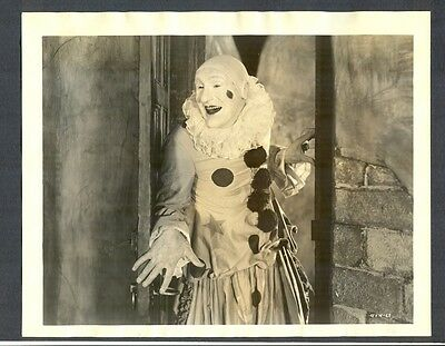 Early Silent Creepy Evil Clown Key Book Photo In Exc Cond - Horror Circus Sil