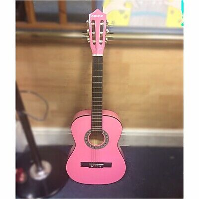 Eleuation Pink Teen Acoustic Guitar Good First Guitar REDUCED QUICK SALE
