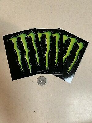 Three 3x4 MONSTER ENERGY decals stickers