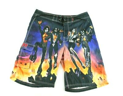 5da71e502c2e9 KISS Destroyer Album Size 34 Mens Vintage Dragonfly Swim Trunks Board Shorts