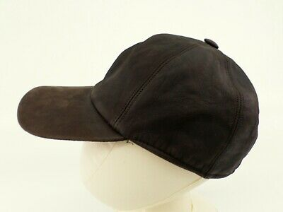 Nordstrom Oiled Leather Hat Cap Dad Adjustable Brown Made in Italy