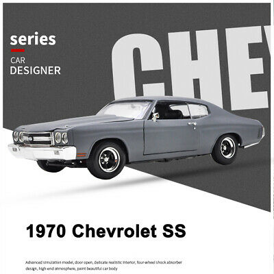 New Ertl 1:18 Scale Diecast Car Model 1970 Chevrolet Chevelle SS Gray Muscle Car