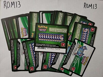 25 SUN AND MOON TEAM UP: POKEMON TCG ONLINE CARDS CODES (Emailed)- ROM13
