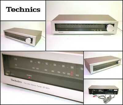 Vintage TECHNICS ST-8011 FM AM Stereo Tuner (Made in Japan)