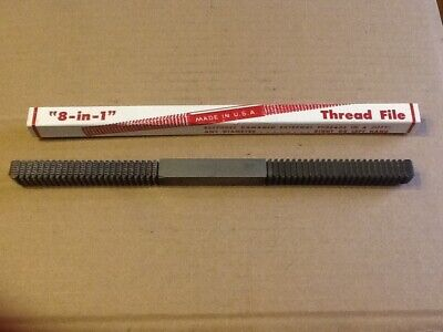 Jawco #8 Nu Thred Thread Restoring Metric File 0.80-3.00mm TPI MADE IN USA New