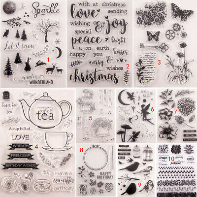 Forest Fairy Transparent Silicone Clear Stamps DIY Scrapbook Embossing Flower