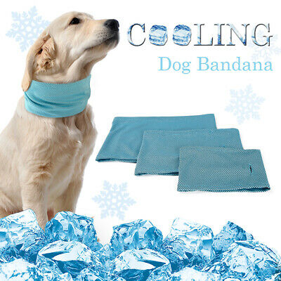 Summer Dog Bandana Cooling Collar Instant Ice Cold Scarf for Small to Large Dogs