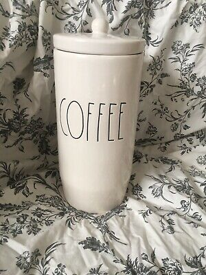 Rae Dunn Coffee Canister, container, Tall, NEW RELEASE LL Jar Lid 2019 slender