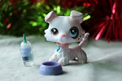 Littlest pet shop Custom Made LPS White Collie Ice Cream Spot Different Eyes