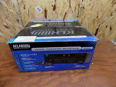 NEW KLH Audio Systems R5100 Dolby Digital Surround Audio Video Reciever NOS 500